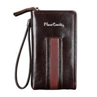Pierre Cardin Casual Reticule Bag Man Bag Genuine Leather Bag Strap For Samsung S9 S8 Plus