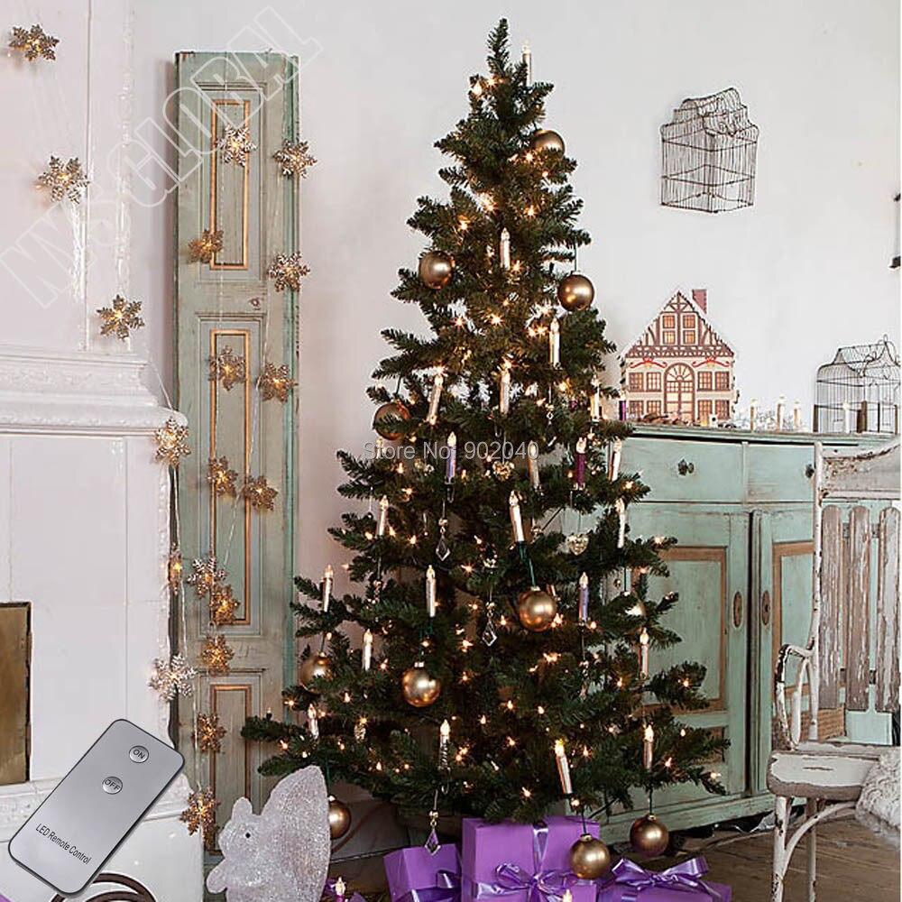 free expedited dhl 40 pcs remote control christmas tree led candle xmass decorationswedding - Remote Control Christmas Tree