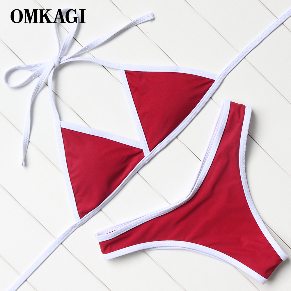 OMKAGI Swimsuit Swimwear Women Sexy Push Up Micro Bikinis Set Bathing Suit Beachwear Maillot De Bain Femme Brazilian Bikini 2018 white lace bikini bandeau swimwear women low waist swimsuit brazilian push up bikinis set bathing suits maillot de bain femme page 4