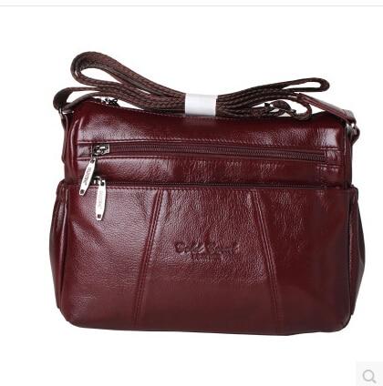 Fashion All-match Women's Messenger Bag 100%Genuine Leather Handbags cowhide shoulder crossbody bags for women