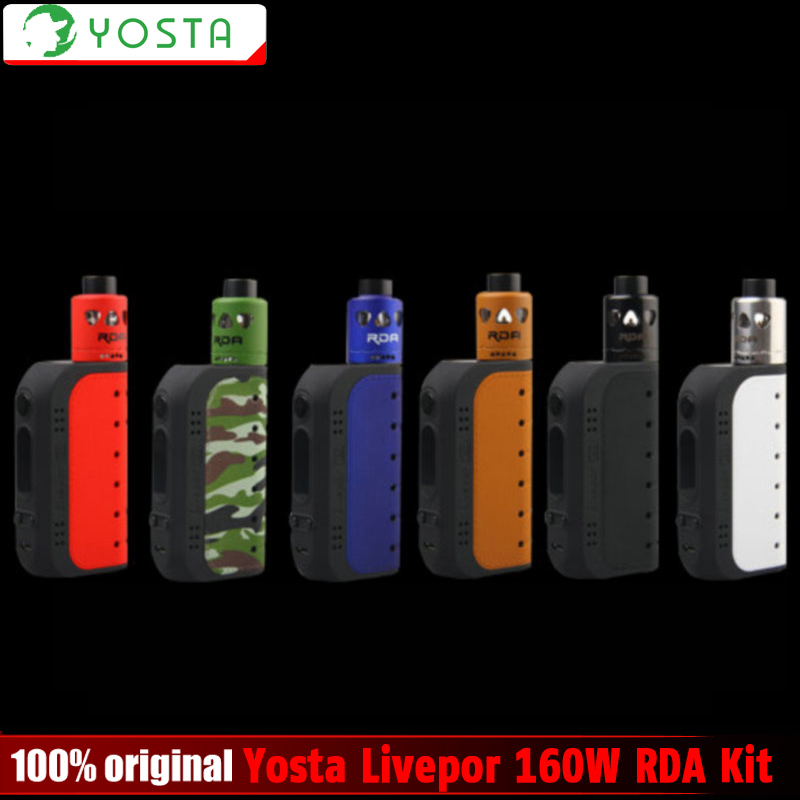 100 Original Yosta Livepor 160W RDA Kit Livepor 160W Box Mod Ecig Starter Kit With IGVI