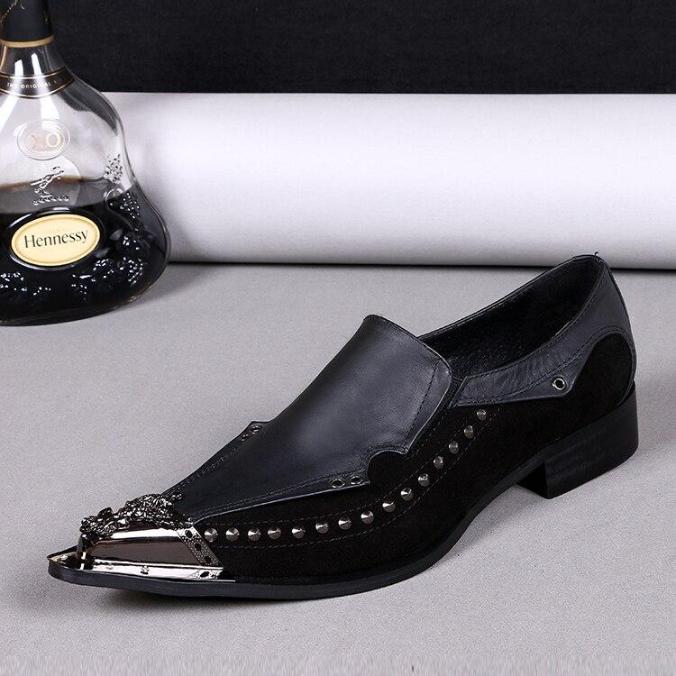 Mode 2018 mode noir/marron hommes chaussures de mariage robe chaussures en cuir véritable décontracté affaires chaussures hommes oxfords