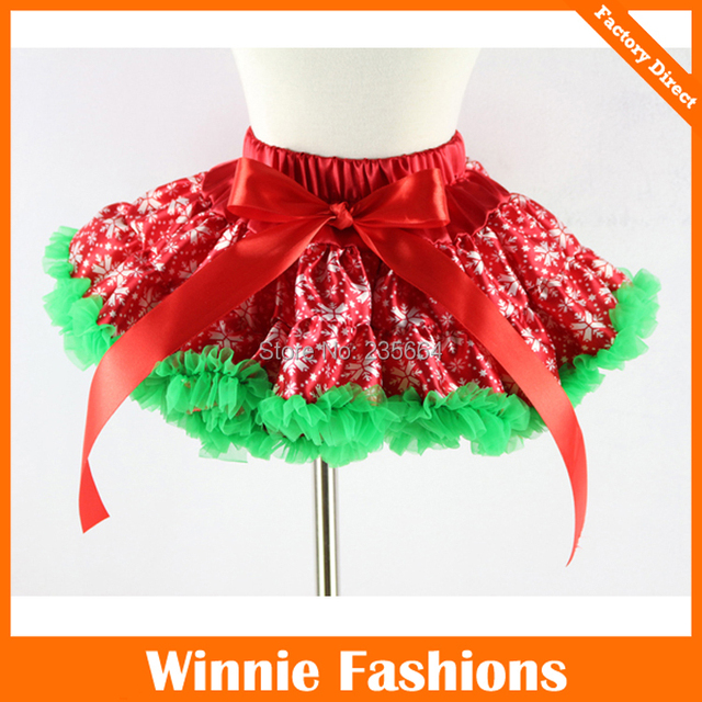 2016 Falda Free Shipping New Year Snowflake Girls Princess Pettiskirt Tutu Very Fluffy Christmas Skirt Kids Skirts 1-10t 5sizes