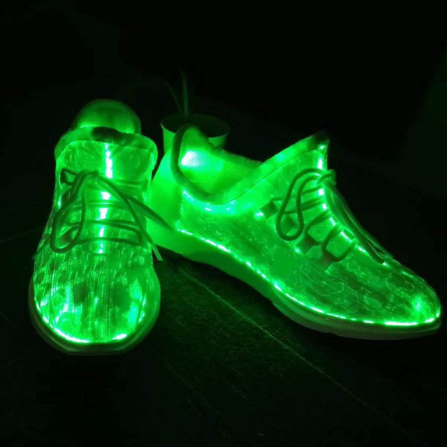 OUTAD 7 LED Luminous Dancing Women Sneakers Lace Colorful Glowing Party Hip-hop