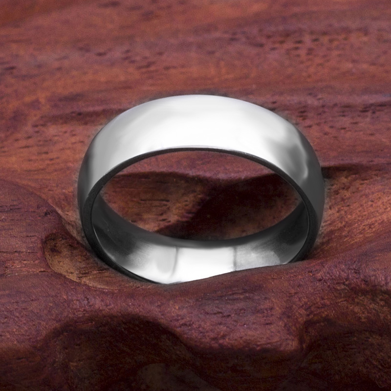 Classic 6mm Stainless Steel Wedding Bands Basic Rings For Couple Comfort Fit US Size 7 To 11