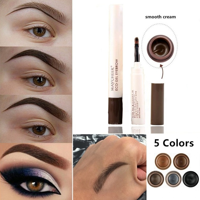 Natural Makeup Eyebrow Pencil Pomade Gel Enhancer Professional Brow Tint Tattoo Paint Cream Wax Waterproof Eyebrow Brush Pen