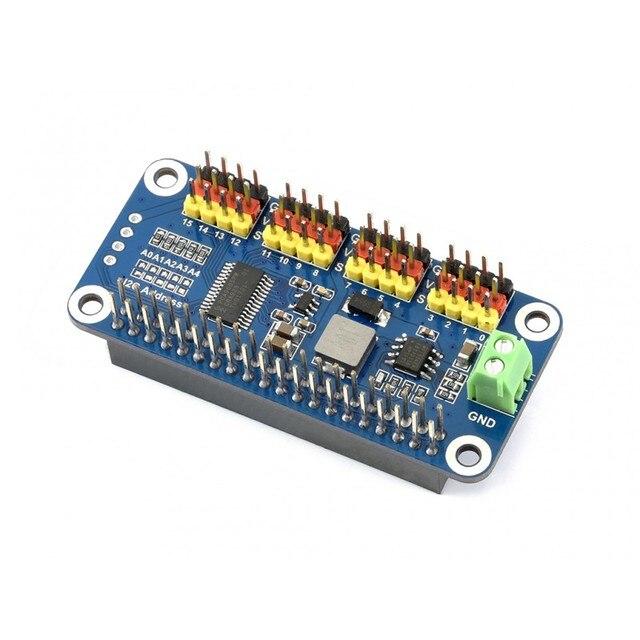 US $13 99 |Raspberry Pi Servo Driver HAT providing precise PWM output 16  Channel 12 bit I2C Interface support Raspberry Pi Zero/Zero W/3B+-in Demo