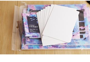 300gsm akwarela pocztówki papier do malowania 12 arkuszy tanie i dobre opinie Malarstwo papier Kolor wody 30012 105x155mm