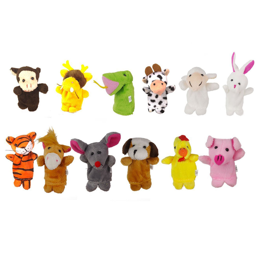 12pcs / set models even stuffed animal zodiac animals finger means even the 12 zodiac an ...