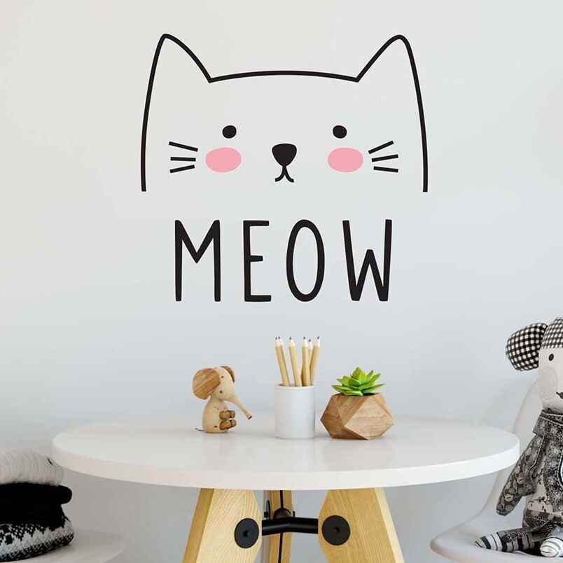 Cute Cat Decal Wall Sticker Animal