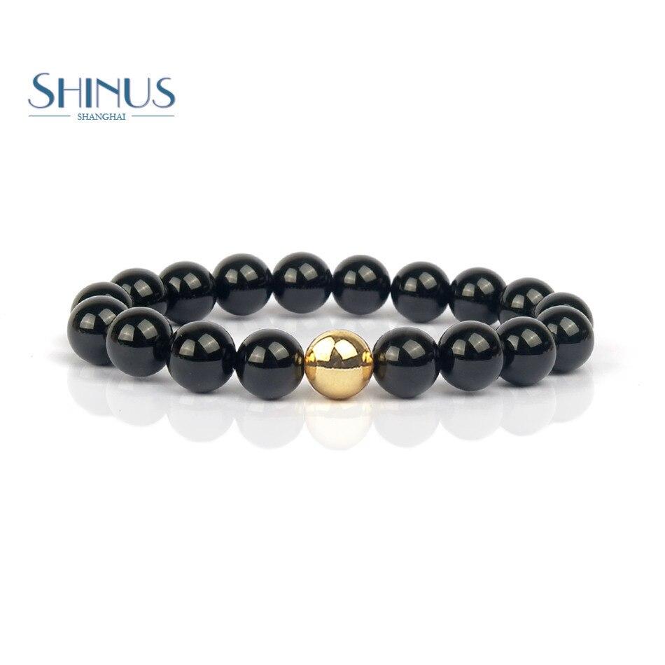 Shinus Bracelets Women 2017 Natural Stone Onyx Buddhist Beads Bracelet Men Handmade Meditation Yoga Jewelry Pulseira Femme New