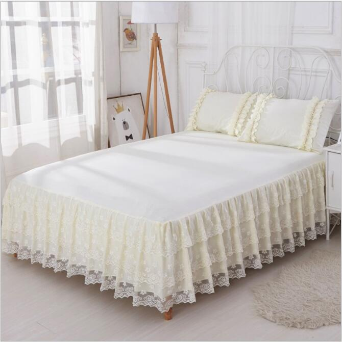 2018 Hot Selling Bed Skirt Lace With High Quality Beautiful Bed Skirt