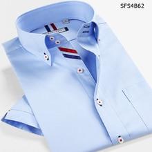 Smart Fünf Männer Kurze Marke Baumwolle Camisa Masculina Kurzarm Slim Fit Shirt Männer Sommer Stil Neue Importiert Kleidung 5XL 6XL