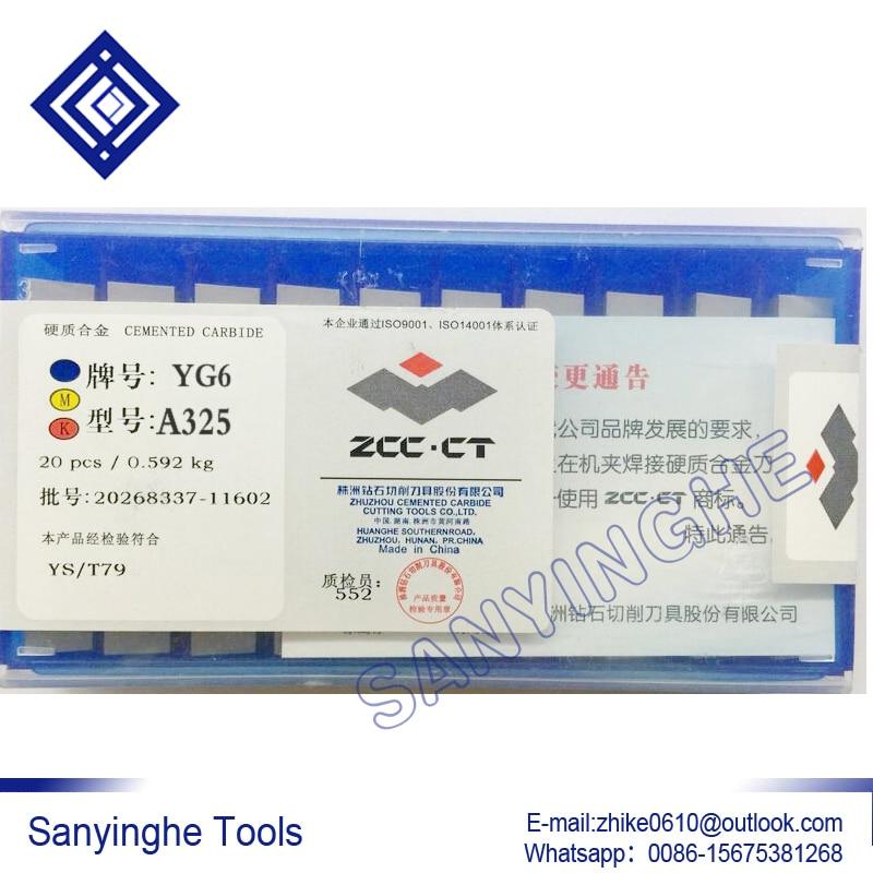 YG6 A325 sanyinghe راهنمایی کاربید تنگستن 20 قطعه / تعداد زیادی درج ابزار خسته کننده جوش کاربید تیغه راهنمایی کاربید تراش ابزار