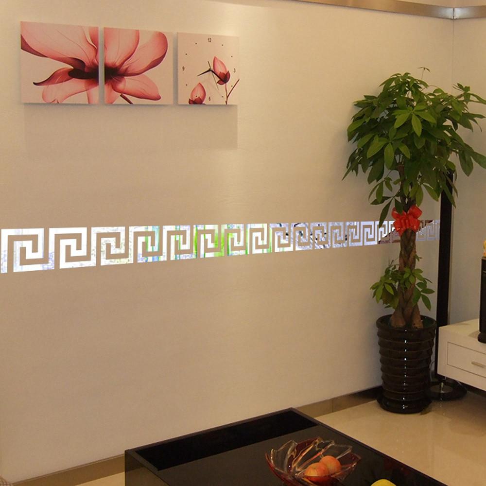 20 Pcs / Set Fashion Home Decor Mirror Wall Stickers Gold Silver ...