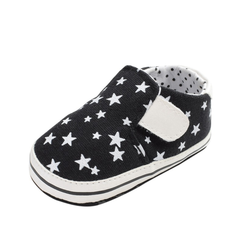 Toddler Baby Shoes Casual Star Print Anti Slip Soft Sole Crib Canvas Shoes Kids Sneaker 0-24M Newborn Lovely Gifts