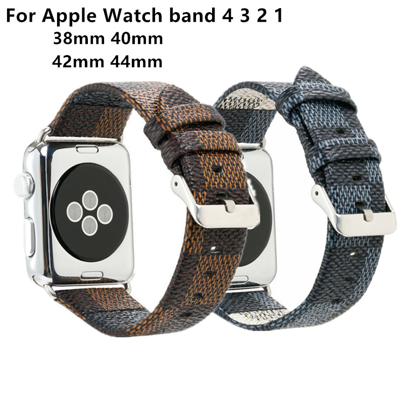 Plaid style Strap For Apple Watch band 4 44mm 40mm Leather bracelet belt  For IWatch series 3 2 1 38mm 42mm Watchband AccessoryPlaid style Strap For Apple Watch band 4 44mm 40mm Leather bracelet belt  For IWatch series 3 2 1 38mm 42mm Watchband Accessory