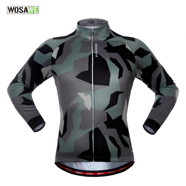 b61b5399a WOSAWE Spring Autumn Long Sleeve Cycling Jersey Quick Dry Windproof Cycling  Tops Bike Jersey For Men And Women
