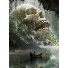 5d алмазная живопись «сделай сам» вышивка «aqua skull» крестиком