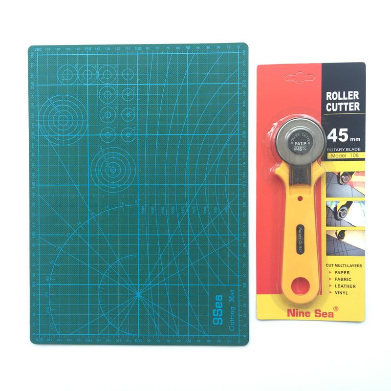 Wholesale High-end Tool For Fine Tailoring Quilting Supplies Cutting Mat And Round Knife Blade Knife Pad Size 30 * 22cm Spec 45m top quality pvc rectangle self healing cutting mat tool non slip craft quilting printed professional double sided cutting mat