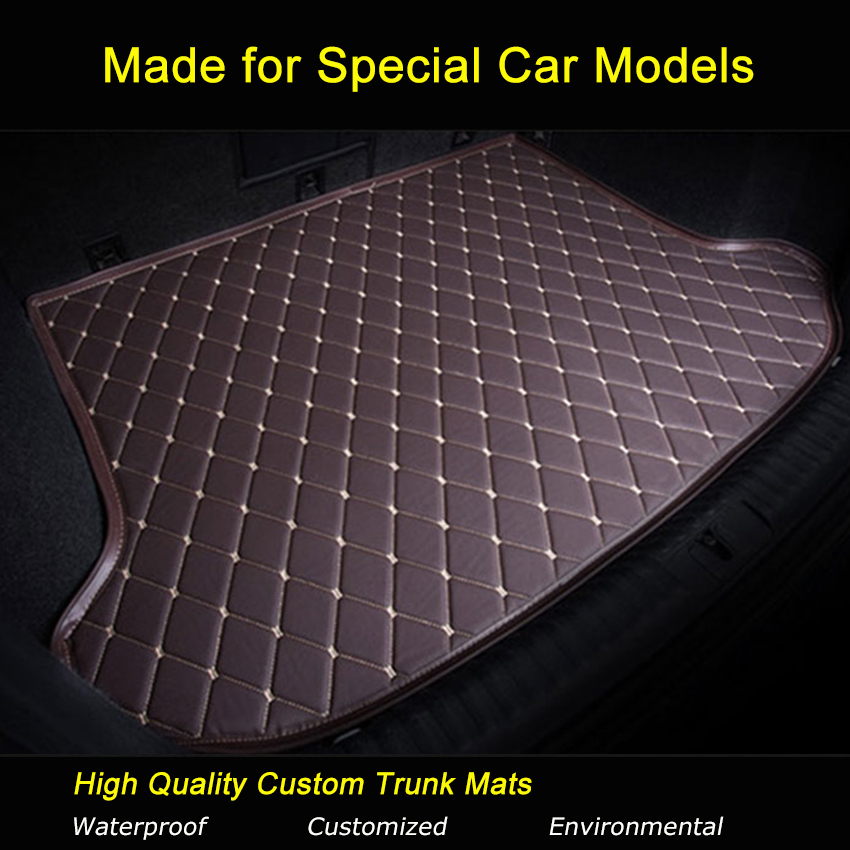Car Trunk Mats Specially for Mercedes Benz B180 C200 E260 CL CLA G GLK300 ML S350/400 Trunk Carpets Waterproof Boot Liner Rugs special rubber latex green car trunk mats case for benz smart desinged for original car model