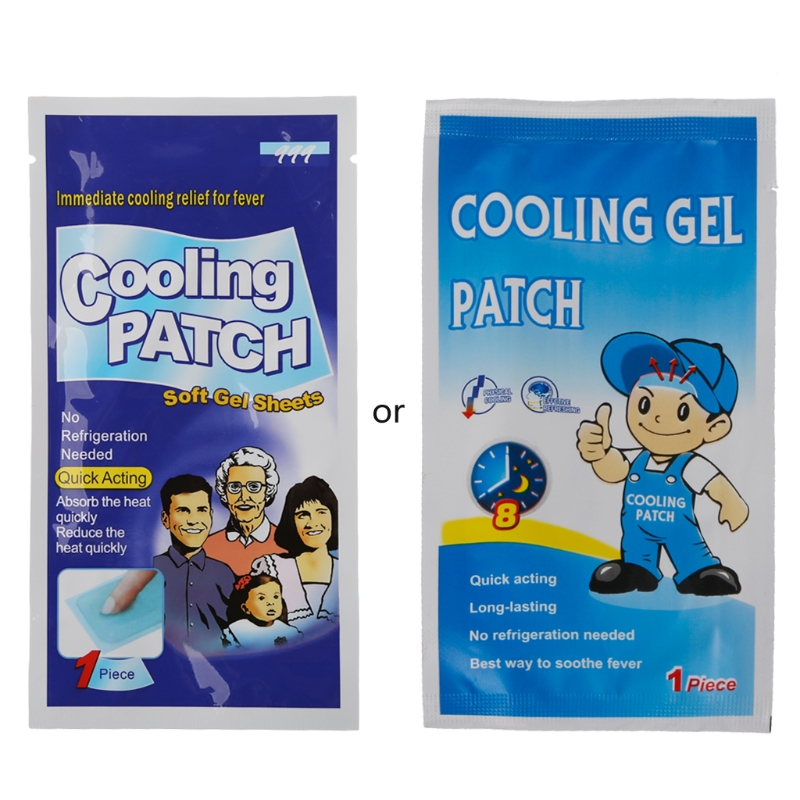 10Pcs Baby Kids Medical Grooming Health Kit Grade Hydrogel Fever Reducing Pain Relief Cooling Patch image