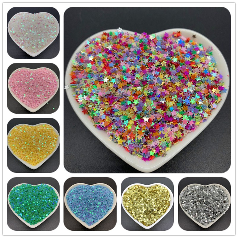 Craft Scrapbooking Paillettes Sewing Sequins Star Flat Loose 10g PVC 3mm 10000pcs/Lot