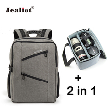 Jealiot 2 in 1 Multifunctional Professional Camera Bag laptop Backpack waterproof shockproof digital Video Photo Bags for Canon