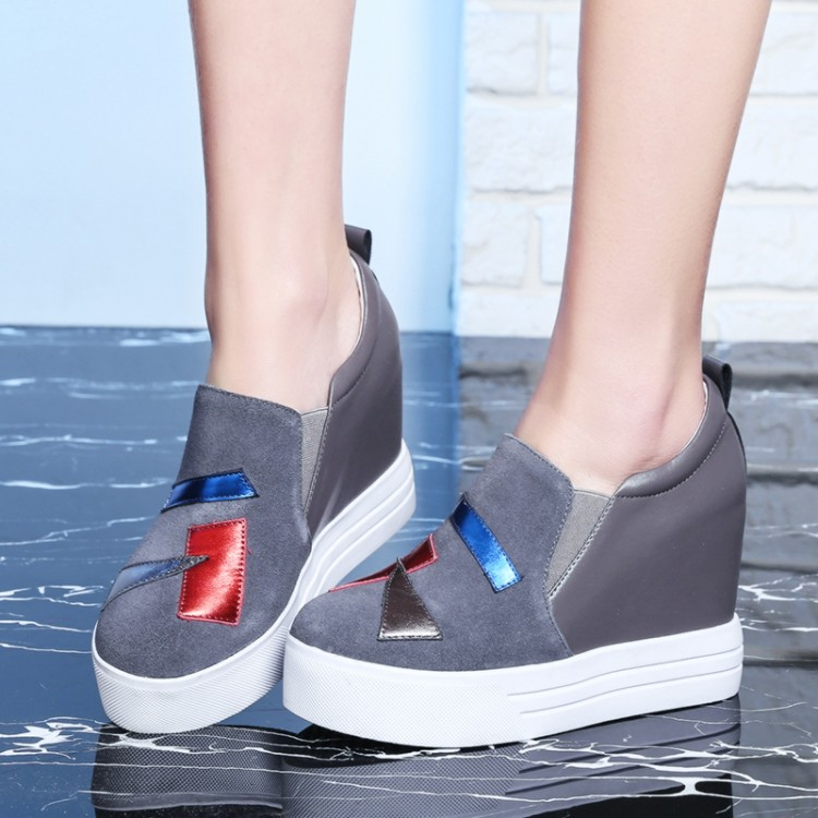 Bombas en Slip Vaca Tamaño Mujer 40 {zorssar} Moda El gris Aumento Interna 31 Zapatos De Gamuza Negro Tacones Plataforma La Gráfico 2018 Altos Nueva Casual zwzRAnUv
