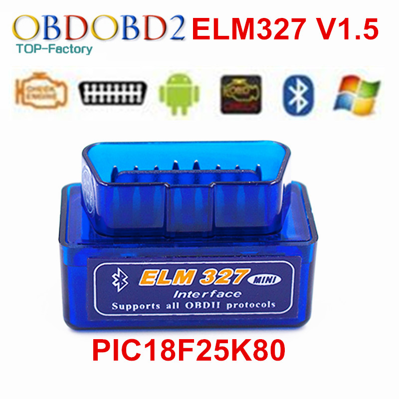 ELM327 Auto Scanner ELM 327 Bluetooth OBD2 For Android Torque OBDII Car Vehicle V1 5 With