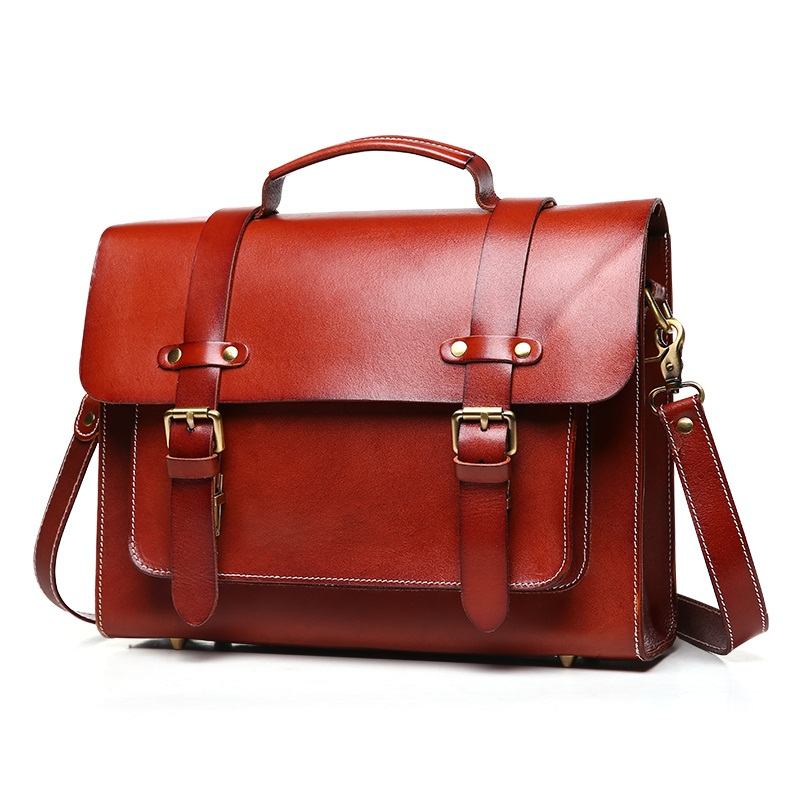 100% Genuine Leather Men Briefcase Bag Handbags Cowhide Portfolio Men Shoulder Bags Business Travel Laptop Vintage man bag цена и фото