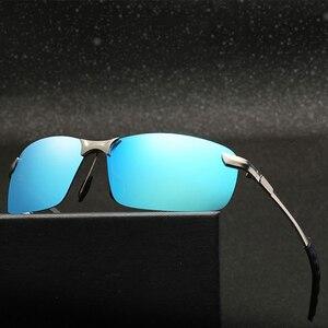 Image 2 - Açık sürme güneş gözlüğü kadın erkek yansıtıcı gece görüş parlama önleyici gözlük UV400 araba güneşliği Plarization güneş gözlüğü kadın
