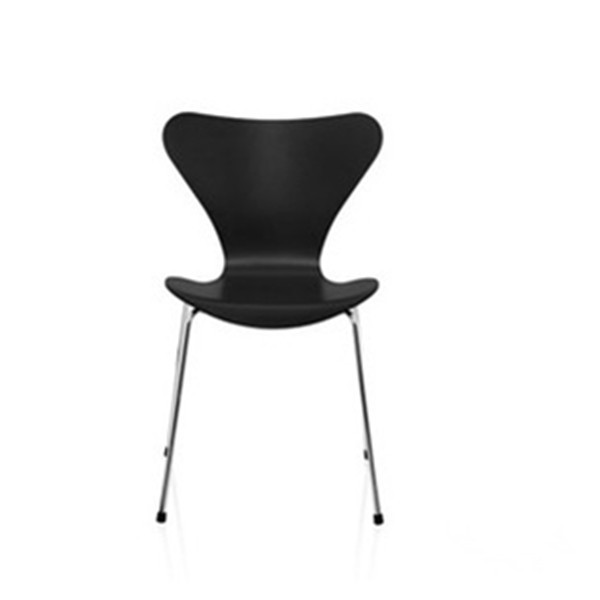 Series Seven Chair in bent wood with metal leg