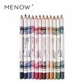 M.n Menow Brand 12PCS Hot Sale Eye liner lip 12 color set lip pencil Lasting not blooming Makeup  P12005
