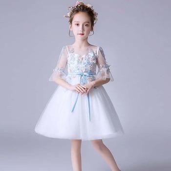 cd0ad76719f 2019 été bébé enfants fille robe princesse fête Tutu robe pour filles  vêtements anniversaire robe de mariée filles robes pour 4-14 ans