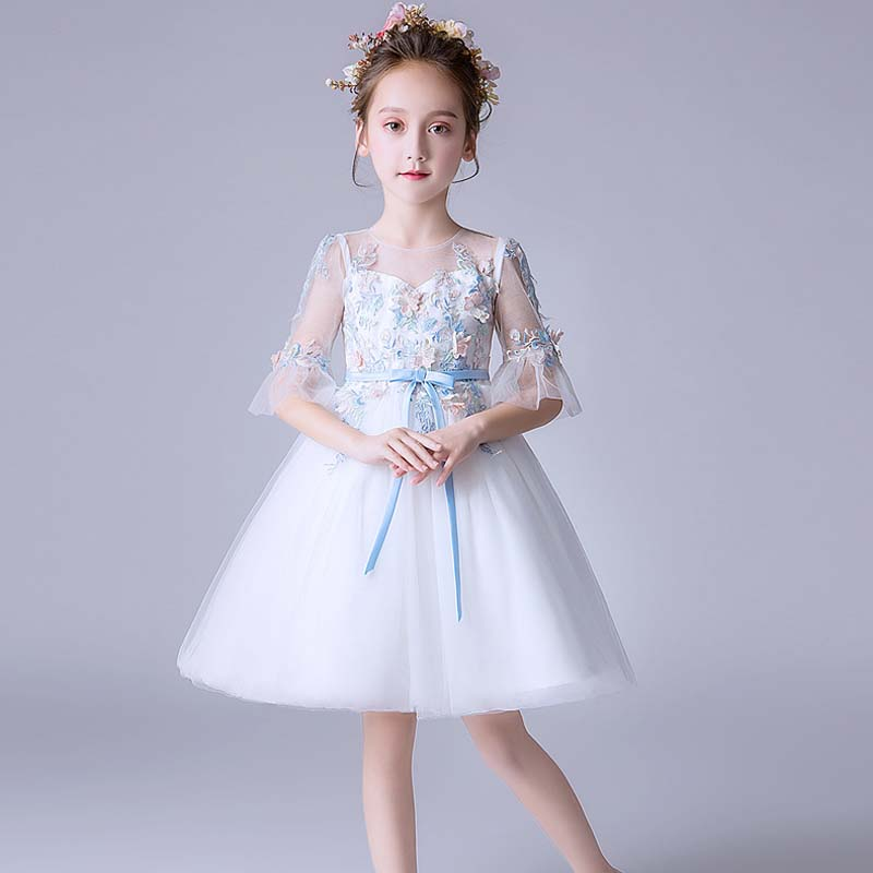 2019 Summer Baby Kids Girl Dress Princess Party Tutu Dress for Girls Clothes Birthday Wedding Gown Girls Dresses for 4-14 Years