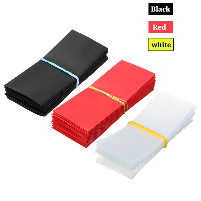100X 18650 Battery Wrap PVC Heat Shrink Tubing Precut Battery Film Tape Cover HD