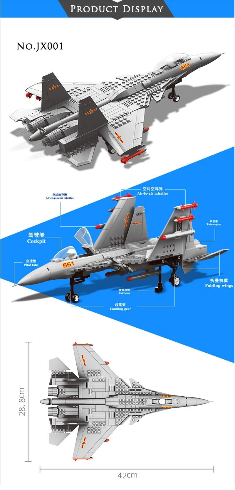 Wange Building Blocks Military F15 Fighter J-15 V-22 Osprey Tiltrotor Aircraft Helicopter Model Building Kits Toys For Children 1