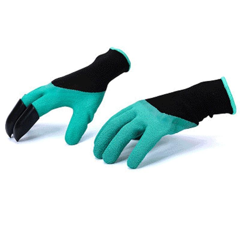 ZK20 Keselamatan Sarung Tangan Taman Sarung Tangan Karet TPR 1 Pair Thermo Plastik Pembangun Bekerja ABS Plastik Cakar Sarung Tangan Menggali Rumah Tangga