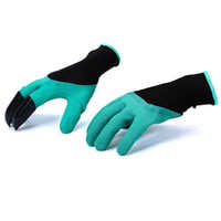 ZK20 Safety Gloves Garden Gloves Rubber TPR 1 Pair Thermo Plastic Builders Work ABS Plastic Claws Household Digging Gloves