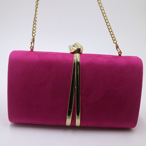 Image 5 - Nuphia Suede Evening Clutch Bags and Party Clutches Evening Bags for Women Yellow Royal Blue Orange Red Purple