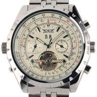 Reloj Hombre JARAGAR Fashion Horloge Heren Dag Vliegwiel Auto Mechanische Stell Horloge Geschenkdoos Xmas Gift Gratis Ship