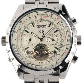 Reloj Hombre JARAGAR Fashion Watch Mens Day Flywheel Auto Mechanical Stell Wristwatch Gift Box Xmas Gift Free Ship - DISCOUNT ITEM  16% OFF All Category