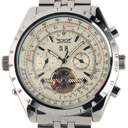 Reloj Hombre JARAGAR montre de mode hommes jour volant automobile mécanique en acier montre-bracelet boîte cadeau de noël cadeau livraison gratuite
