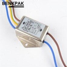 Однофазный EMI фильтр питания 10A 115/250V CW1B-10A-L разъем 10A EMI фильтр