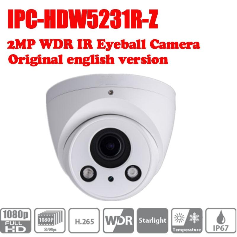 DHL free shipping dahua 2.7mm ~12mm motorized lens 2MP WDR IR Eyeball Network Camera IPC-HDW5231R-Z without logo free shipping dahua cctv camera 4k 8mp wdr ir mini bullet network camera ip67 with poe without logo ipc hfw4831e se