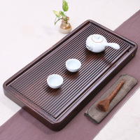 Chinese Solid Wooden Drinkware Tea Tray Tea Kung Fu Tea Set Table Drawer Type Gongfu Storage Drainage Tray Tea Accessories