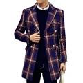 2015 winter trench coat Men duoble Breasted Trench Coat Men Outerwear plaid Casual Coat Men's Jacket Windbreaker Men Trench Coat