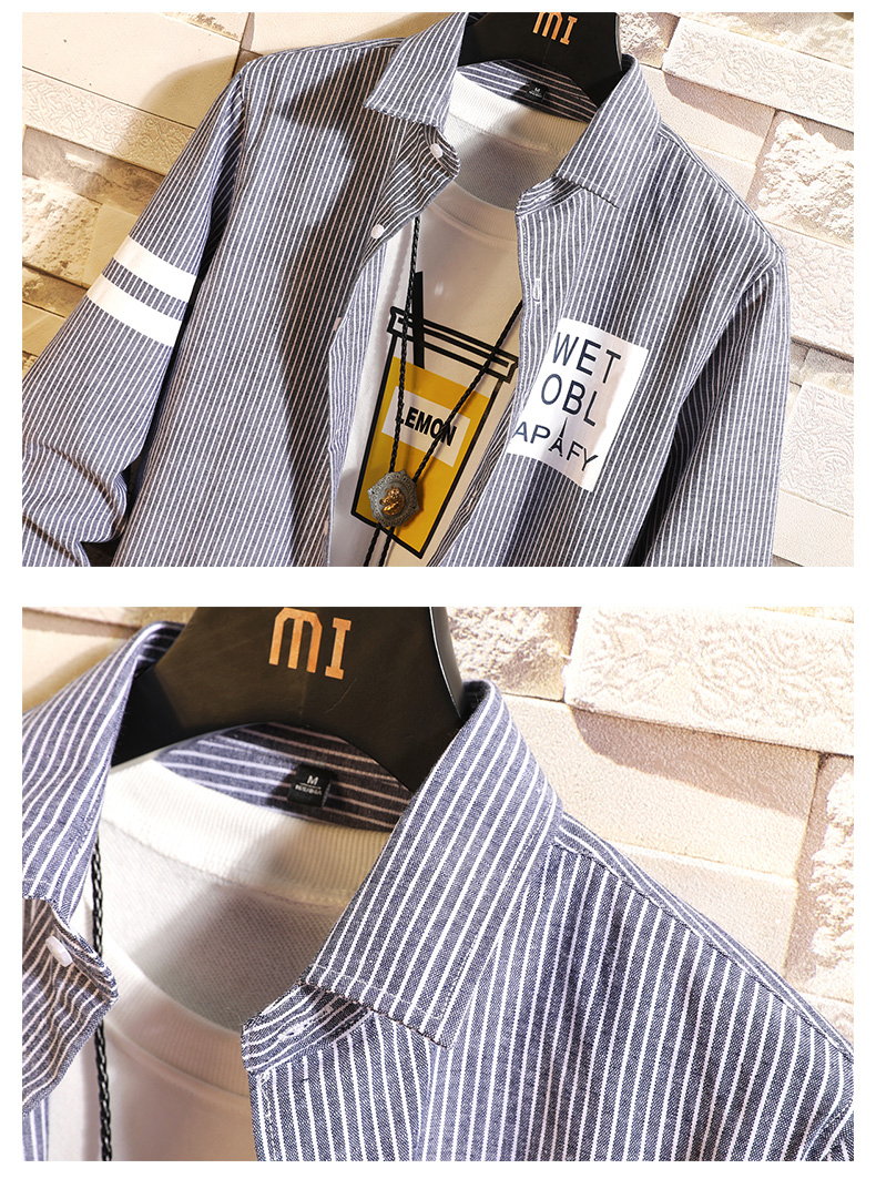 Tide brand retro loose checkered long-sleeve shirt male and Korean version fresh wind student casual shirt jacket thin 36