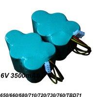 UNITEK 2PCS 6V 3500mAh SC NI MH NIMH Vacuum Cleaner Battery Pack For Ecovacs Deebot 650